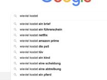 """""""Wieviel kostet…?"""" Die Antworten auf die 10 häufigsten Fragen auf Google"""